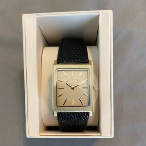 """Men's Breda """"Virgil"""" watch with black leather band"""